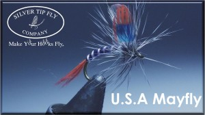 USA Mayfly tied with Silver Tip Fly Company Wings